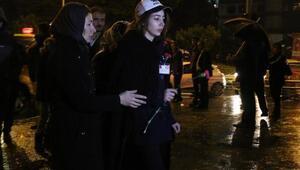 Şehit kızı, babasının öldüğü yere karanfil bıraktı