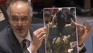 Delil diye yanlış fotoğrafı gösterdi.... BM Güvenlik Konseyinde skandal