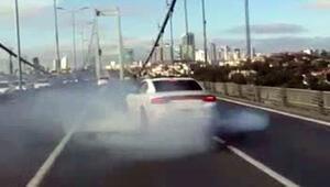 15 Temmuz Şehitler Köprüsü'nde drift yapan sürücü yakalandı