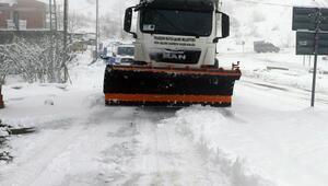 Trabzon'da kar mücadelesinde durmak yok