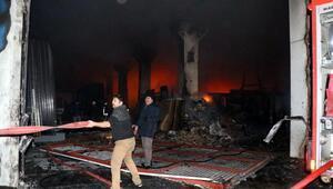 Cam ve alüminyun fabrikasında yangın