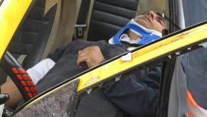 Havalimanı sapağında trafik kazası ;1 ağır yaralı