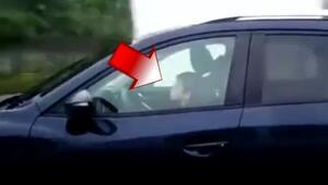Otoyolda son sürat giden çocuk sürücü