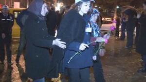 Şehit polisin kızı Melis de Şehitler Tepesinde...