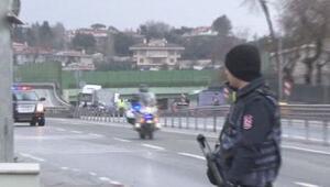 Cumhurbaşkanı Erdoğanın geçişi sırasında panik