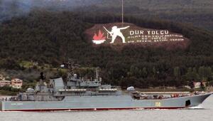 Rus şavaş gemisi Karadenize çıkıyor