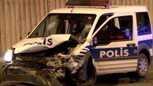 Üsküdarda polisten kaçan sürücü kaza yaptı