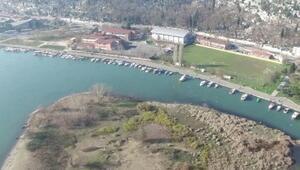 İstanbul Bahariye adalarının havadan görüntüsü