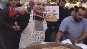 Bugün TV'ye Oktay Usta'dan pilavlı destek