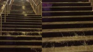 İstanbul Metrosunu sel bastı