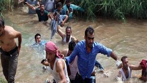Jandarma Silopide sınırı yüzerek geçen şoförlere ateş açtı