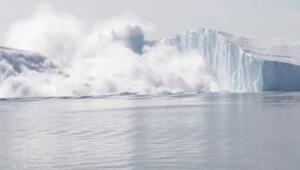 Korkutan görüntü Dev buz dağı böyle parçalandı