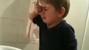 Küçük çocuktan profesyonel gözyaşları