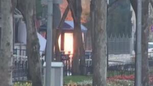 Teröristin üzerindeki bomba fünye ile patlatıldı
