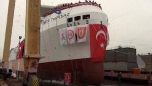Türkiyenin ilk yerli sismik araştırma gemisi MTA Turkuaz denize indirildi