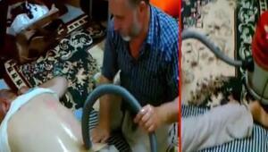 Elektrik süpürgesi ile bel fıtığı tedavisi