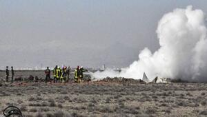 Konyada askeri uçak düştü