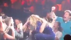 Beyonce hayranının kendinden geçtiği anlar