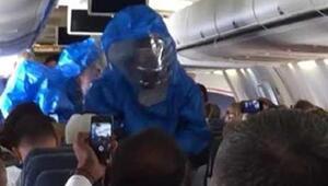 Uçakta Ebola şakası paniğe neden oldu