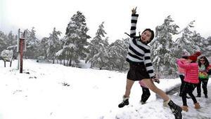 Antalyada kar yağışı heyecanla karşılandı İşte 23 yıl sonra yağan kardan ilk görüntüler