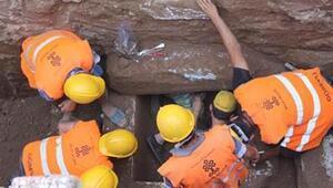 Milasta kanalizayon çalışması sırasında 1600 yıllık mezar bulundu