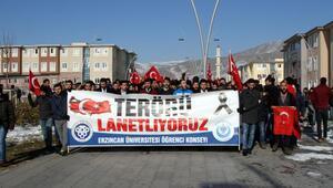 Erzincan Üniversitesi öğrencileri terörü lanetledi