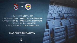 Trabzonspor, Fenerbahçe maçı bilet fiyatlarını açıkladı