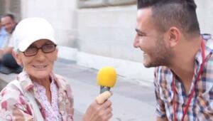 60 yaşındaki teyzenin sokak röportajı aşkı