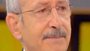 Kılıçdaroğlu canlı yayında gözyaşlarını tutamadı