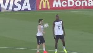 Pogba ve Valbuena antrenmanda şov yaptı