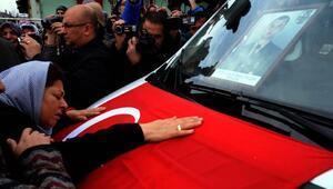 Şehit uzman çavuş Yalçını, Erbaada 10 bin kişi uğurladı