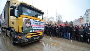 Pursaklardan Halepe 10 TIR yardım yola çıktı