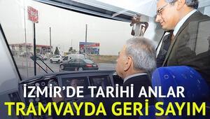 Kocaoğlu, Karşıyakada tramvay kullandı