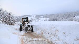 Bursa'da kardan kapanan 190 mahalle yolu trafiğe açıldı