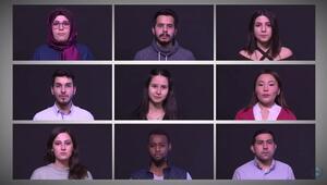Üniversite öğrencileri 30 dilde teröre hayır dedi