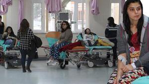 Kız yurdunda 68 öğrenci doğalgazdan zehirlendi