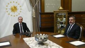 Cumhurbaşkanı Erdoğan, MİT Müsteşarı Fidanı kabul etti