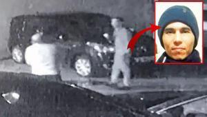Otoparka saklanıp polisi gözledi
