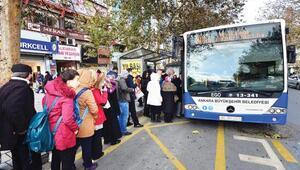 Başkentte toplu taşıma ücretlerine yüzde 6,3 zam