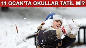 11 Ocak Çarşamba günü okullar tatil edilecek mi Yarın İstanbulda okullar tatil mi