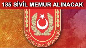 Millî Savunma Bakanlığı (MSB) sivil memur alımı yapıyor Lise mezunları da başvurabilecek