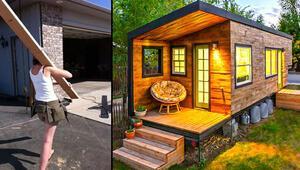 Ev kredisi ödemek yerine kendi evini inşa etti