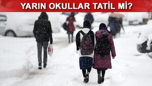 Yarın okullar tatil mi 13 Ocak Cuma günü Ankarada okullar tatil mi
