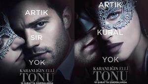 Karanlığın Elli Tonunun afişleri yayınlandı