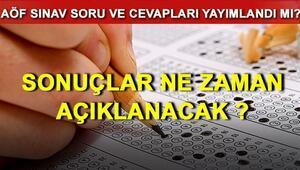 AÖF final sınavı sonuçları ne zaman açıklanacak İşte, final soruları