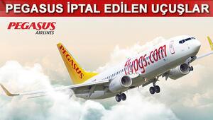 Pegasus iptal olan uçuşlar 27 Ocak iptal edilen seferler