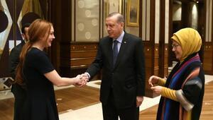 Cumhurbaşkanı Erdoğan, ABDli ünlü oyuncu Lindsay Lohanı kabul etti
