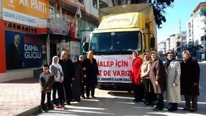 Ak Partili kadınlardan Halepten tahliye edilenlere yardım