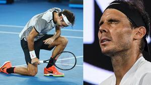 Federer-Nadal maçı nefes kesti...Federer bir kez daha tarihe geçti
