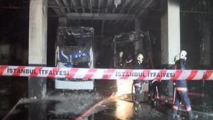 İstanbul Bayrampaşa Otogarında yangın
